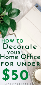 how to decorate your home office on a budget