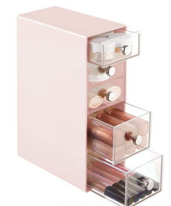 makeup storage for college